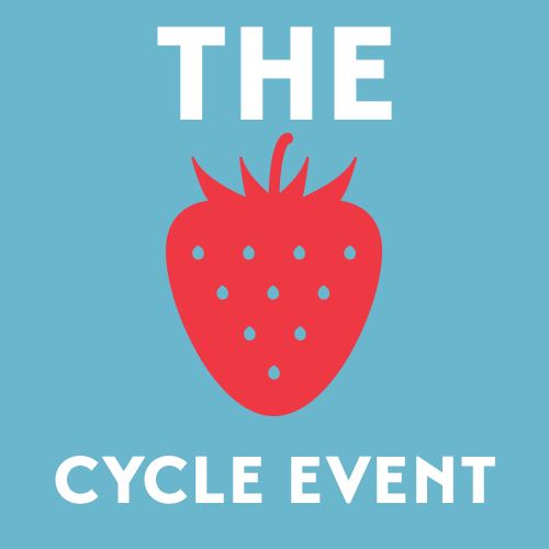 Strawberry cycle event logo